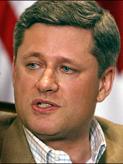 Stephen Harper with jars wired shut for desperation election diet