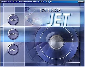 JET splash screen
