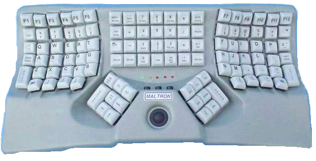 Maltron F-type keyboard layout