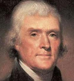 Thomas Jefferson, US president