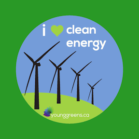 I love clean energy button