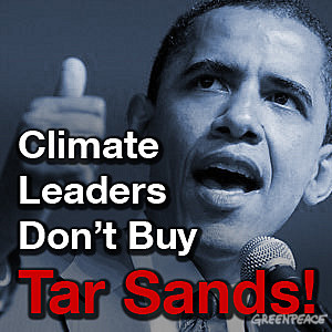 Climate leaders don't buy tar sands.