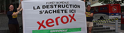 Xerox destroying boreal forest