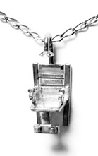 electric chair necklace