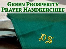 Green Prosperity Prayer Handkerchief
