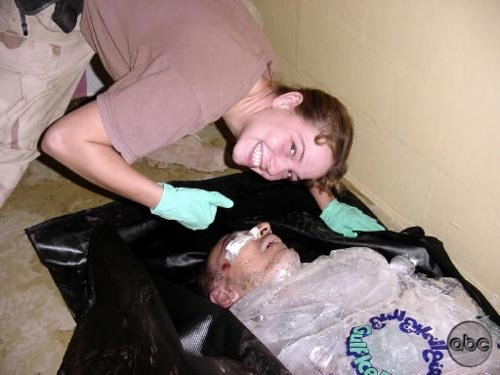 Prisoner tortured to death packed in ice.