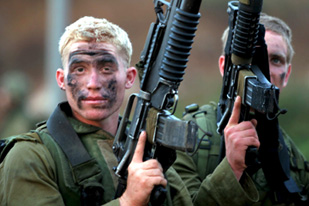 Israeli machine gunners