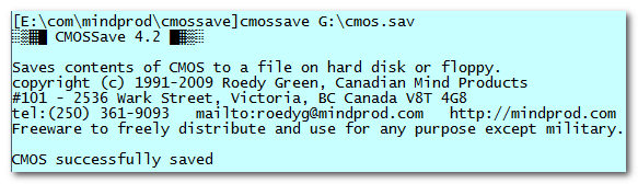 Click to view CMOSSave 4.7 screenshot