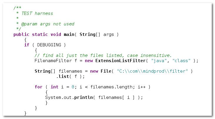 Colllecton of Java FilenameFilters.