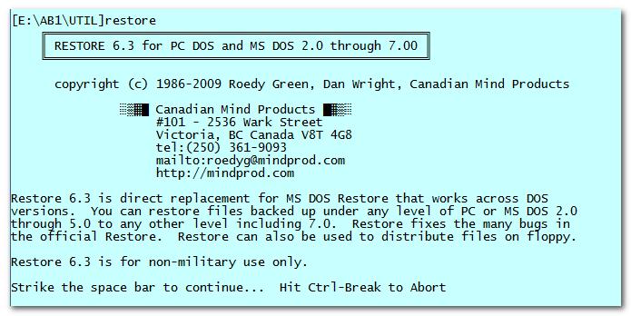 Restore 6.4